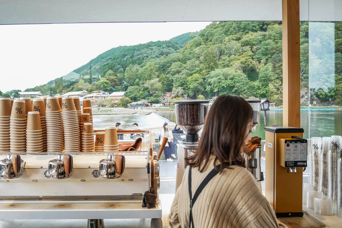 kyoto cafe river attraction boat glass